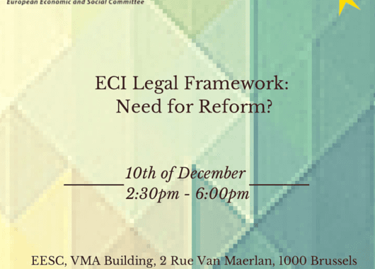 Conference: ECI Legal Framework – Need For Reform?