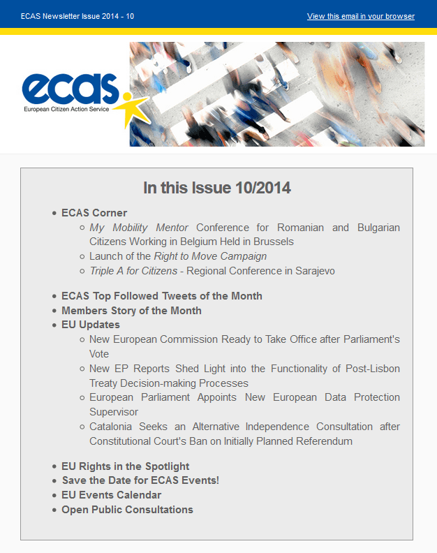 Subscribe To ECAS Monthly Newsletter Now!