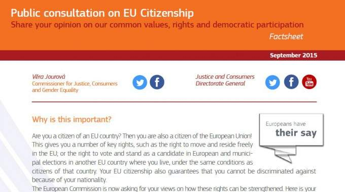 ECAS' Contribution To The EU Citizenship Consultation – Summary Of Key Recommendations