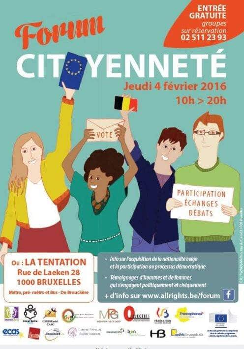 Find Us At The Forum Citoyenneté On 4 February