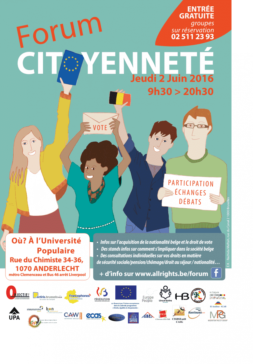 Join Us At The Forum Citoyenneté On 2 June!