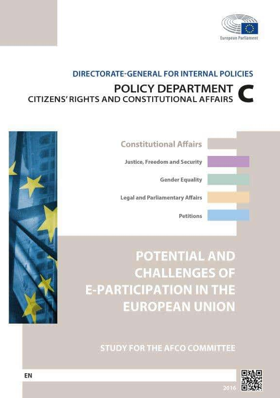 Our Study On E-Participation In The EU For The AFCO Committee Released