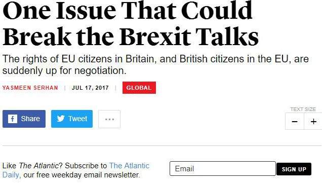 """One Issue That Could Break The Brexit Talks"" – ECAS In The Atlantic"