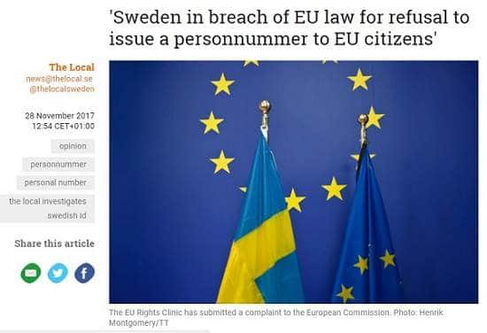EU Rights Clinic's Complaint Against Sweden Features In Media Outlets