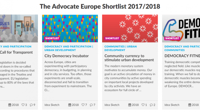 ECAS Is Among The Finalists For Advocate Europe Challenge!
