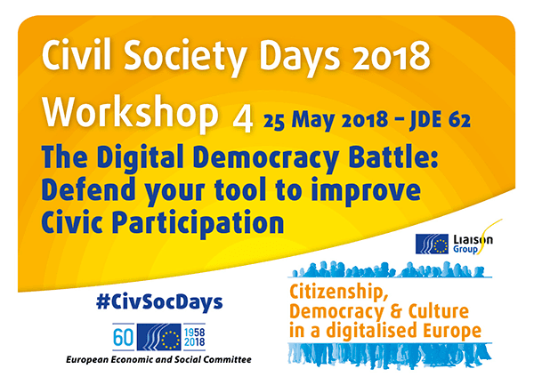 Civil Society Days 2018: More E-Tools To Increase Civic Engagement