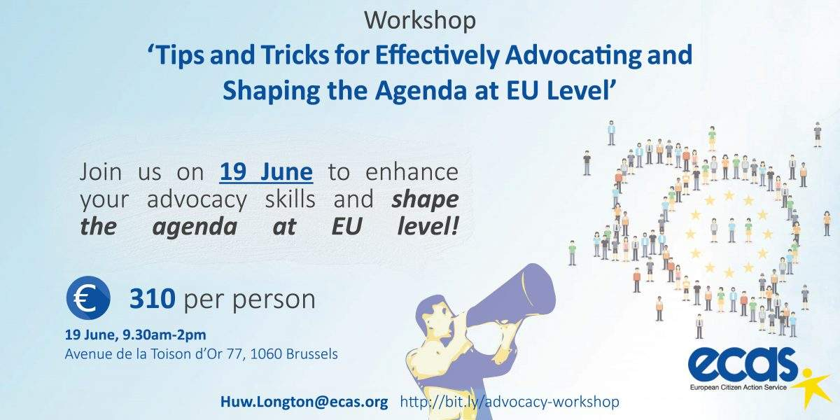 Workshop – 'Tips And Tricks For Effectively Advocating And Shaping The Agenda At EU Level'
