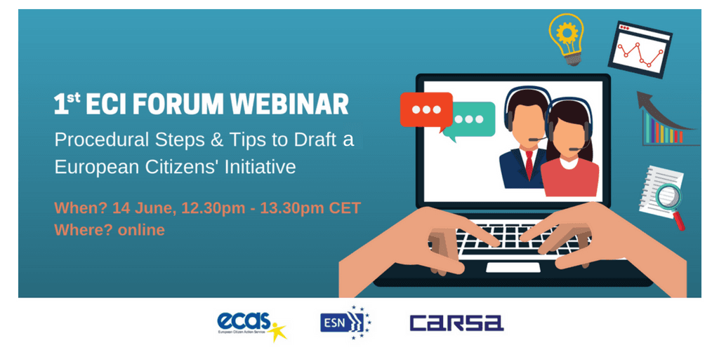 ECI Forum Webinar – ECI: Procedural Steps, And How To Draft An Initiative