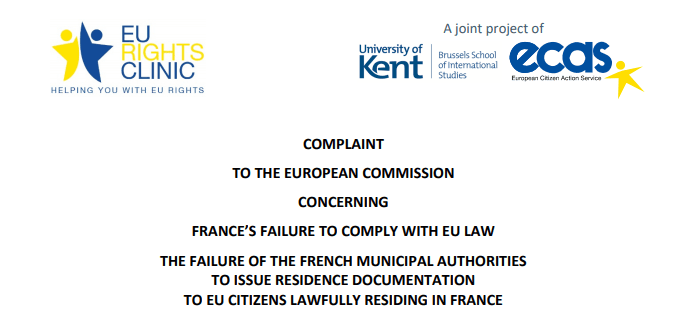 EU Rights Clinic Challenges France's Systematic Failure To Comply With EU Residence Formalities