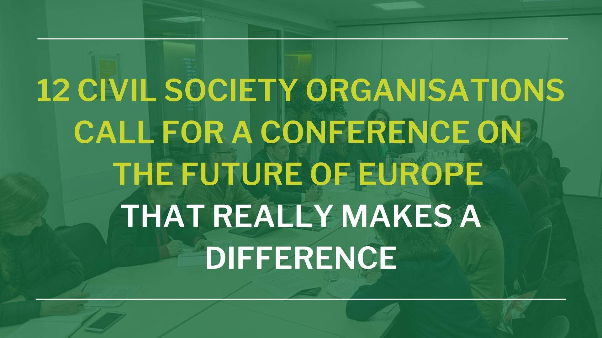 Recommendations For A Successful And Effective Conference On The Future Of Europe