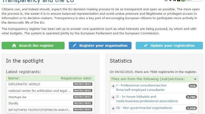 Towards Transparency – Updates To The EU Transparency Register