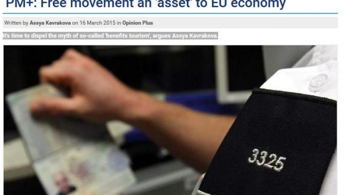 PM+: Free Movement An 'asset' To EU Economy