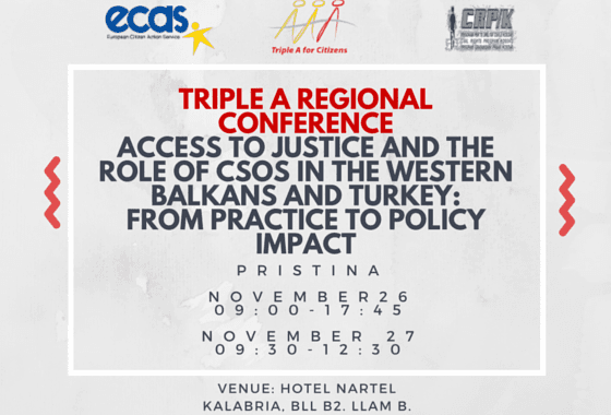 Triple A Regional Conference In Pristina November 26-27th