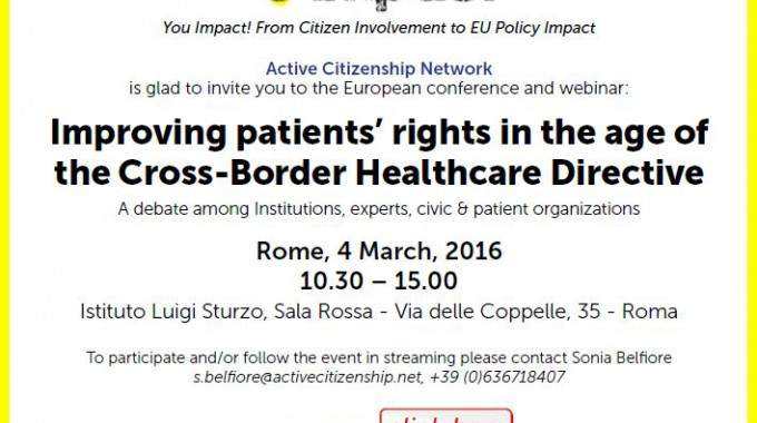 U-Impact Conference In Rome: Improving Patients' Rights In The Age Of The Cross Border Healthcare Directive