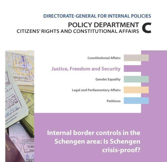 ECAS Contributes To A New Study On The Schengen Area State Of Play