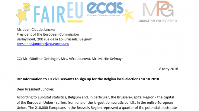 ECAS Signs Letter To EU Leaders To Encourage EU Mobile Citizens To Vote In Local Elections