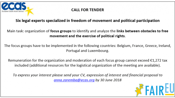 FAIREU Project: Open Call For Legal Experts