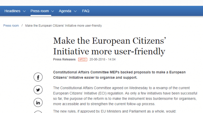 AFCO Committee Approves Proposed ECI Reform