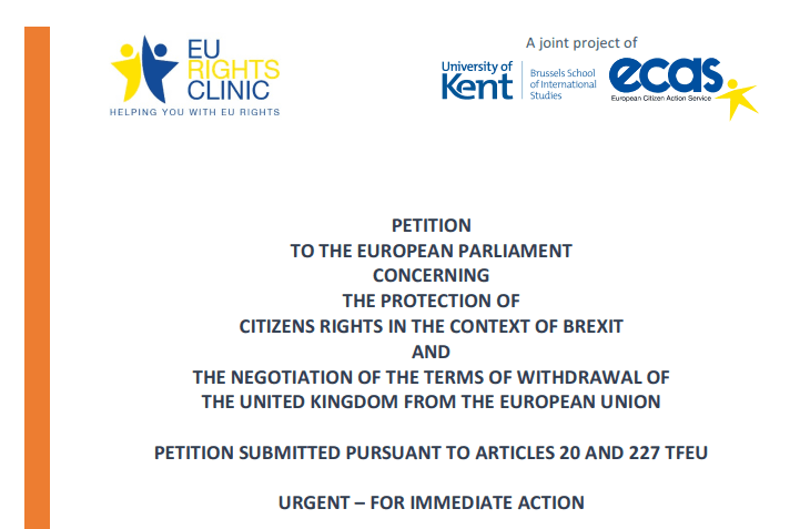 EU Rights Clinic Petition Urges The European Parliament To Ensure Stronger Protection Of Citizens' Rights After Brexit