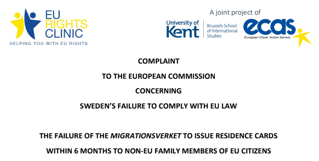 Once Again Sweden Fails To Comply With EU Regulations, Says EU Rights Clinic.