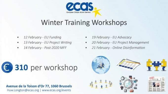 ECAS Training Workshop – EU Advocacy: Shaping The Agenda At EU Level