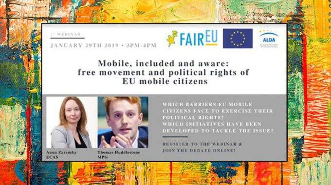 Webinar On Helping EU Mobile Citizens Exercise Their Political Rights