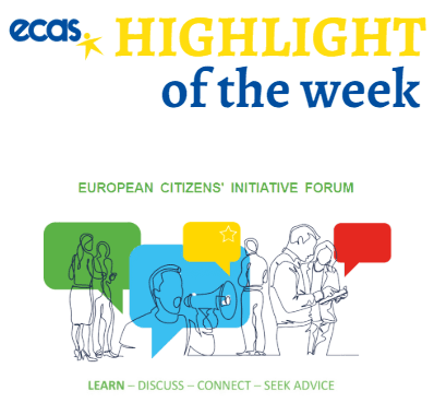 ECAS Highlight Of The Week – New Updates On The European Citizens' Initiative And Webinars To Support Organisers