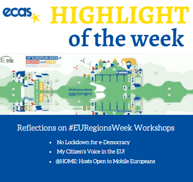 #EURegionsWeek – 'Empowering Citizens Begins Where Their Home Is'